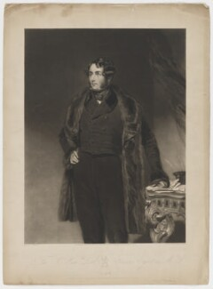 Francis Egerton, 1st Earl of Ellesmere, by Henry Cousins, published by  Thomas Agnew, and published by  Francis Graves & Co, after  John Bostock - NPG D36148