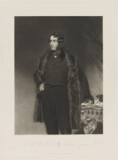 Francis Egerton, 1st Earl of Ellesmere, by Henry Cousins, published by  Thomas Agnew, and published by  Francis Graves & Co, after  John Bostock - NPG D36149