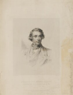 Francis Egerton, 1st Earl of Ellesmere, by Francis Holl, published by  Paul and Dominic Colnaghi & Co, and published by  John Clowes Grundy, after  George Richmond - NPG D36151