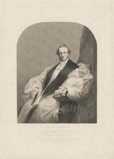 Charles John Ellicott, by Unknown artist - NPG D36157