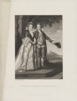 Sir Watkin Williams-Wynn and his mother, Frances, by James Scott, published by  Henry Graves & Co, after  Sir Joshua Reynolds - NPG D36221
