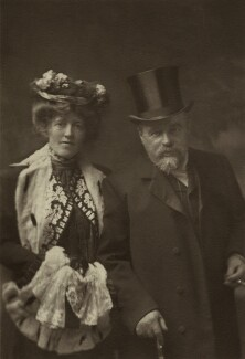 Laura Theresa (née Epps), Lady Alma-Tadema; Sir Lawrence Alma-Tadema, by Lena Connell (later Beatrice Cundy) - NPG x47