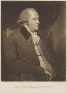 Sir Watkin Williams Wynn, 4th Bt, by Samuel William Reynolds, published by  John Jeffryes, after  Sir Joshua Reynolds - NPG D36222