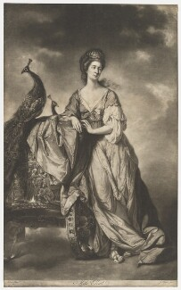 Ann Elliot as Juno, by James Watson, printed by  Robert Sayer, after  Tilly Kettle - NPG D36160