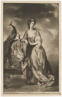 Ann Elliot as Juno, by James Watson, printed by  Robert Sayer, after  Tilly Kettle - NPG D36161