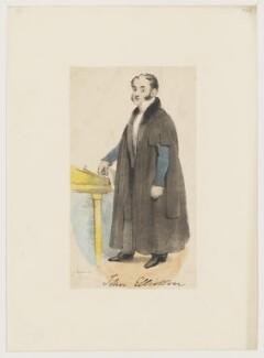John Elliotson, by R. Martin, after  Joseph Kenny Meadows - NPG D36162