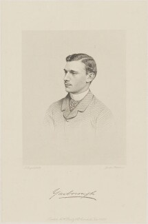 Charles Alfred Worsley Pelham, 4th Earl of Yarborough, by Joseph Brown, published by  A.H. Baily & Co, after  John Jabez Edwin Mayall - NPG D36229