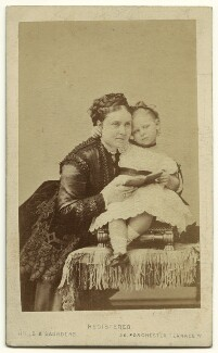 Victoria, Empress of Germany and Queen of Prussia; Princess Adolf of Schaumburg-Lippe (née Princess Victoria of Prussia), by Hills & Saunders, circa 1870 - NPG x132837 - © National Portrait Gallery, London