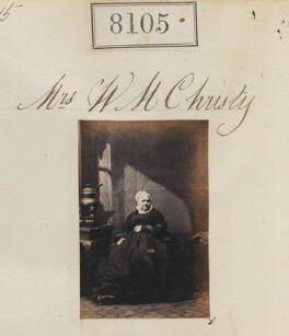 Mrs W.M. Christy, by Camille Silvy - NPG Ax57931