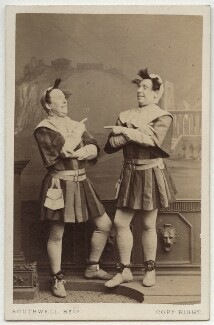 Charles Webb; Henry Berry Webb as the Dromio Twins in 'The Comedy of Errors', by Southwell Brothers, 1864 - NPG  - © National Portrait Gallery, London