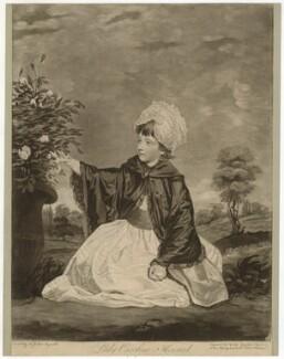 Isabella Caroline Campbell (née Howard), Lady Cawdor of Castlemartin, by Valentine Green, after  Sir Joshua Reynolds - NPG D36019