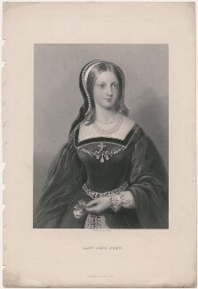 Lady Jane Grey, by William Holl Jr, published by  Virtue & Co - NPG D36332