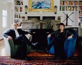 Sir David Nicholas Cannadine; Linda Colley, by Erin Kornfeld - NPG x133077