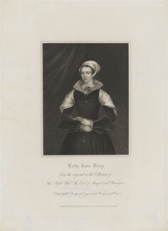 Called Lady Jane Grey, by Robert Cooper, published by  Harding, Triphook & Lepard, after  William Derby - NPG D36349