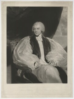 William Howley, by Charles Turner, published by  Colnaghi, Son & Co, after  Sir Thomas Lawrence - NPG D36360