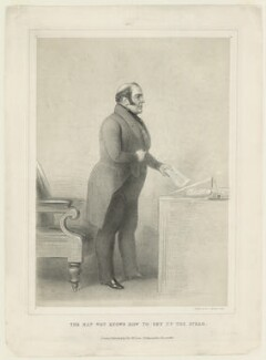 George Hudson ('The man wot knows how to get up the steam'), published by Thomas McLean - NPG D36365