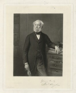Thomas Hughes, by Richard Josey, printed by  Holdgate Brothers, after  Eden Upton Eddis, late 19th century - NPG D36371 - © National Portrait Gallery, London