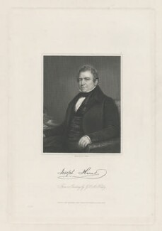 Joseph Hume, by William Holl Jr, published by  John Saunders, after  George Peter Alexander Healy - NPG D36380