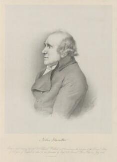 John Hunter, by Thomas Herbert Maguire, printed by  M & N Hanhart, after  Nathaniel Dance (later Sir Nathaniel Holland, Bt), 1849 (1793) - NPG D36393 - © National Portrait Gallery, London