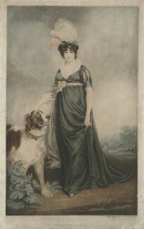 Fanny Hunter (née Heywood), by and published by John Young, after  John Hoppner - NPG D36397
