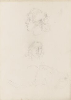 Two unknown sitters, by Henry Tonks - NPG 3072(4a)