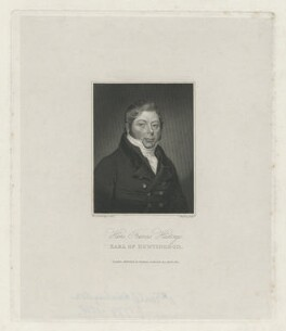 Hans Francis Hastings, 12th Earl of Huntingdon, by Charles Warren, published by  Baldwin, Cradock & Joy, after  Walter Stephens Lethbridge - NPG D36400