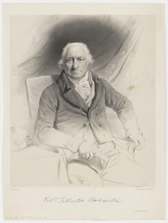 Hon. William Fullerton Elphinstone, by Louis Haghe, printed by  Day & Haghe, after  John Opie - NPG D36170