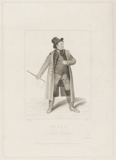 John Emery as Dandie Dinmont in Terry's 'Guy Mannering', by Joseph John Jenkins, printed by  E. Brain, published by  William McDowall, after  Samuel De Wilde - NPG D36179