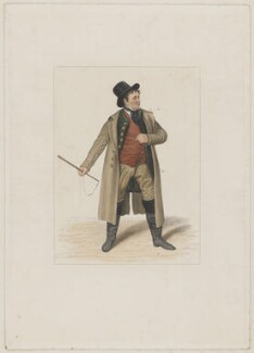 John Emery as Dandie Dinmont in Terry's 'Guy Mannering', by Joseph John Jenkins, printed by  E. Brain, published by  William McDowall, after  Samuel De Wilde - NPG D36180