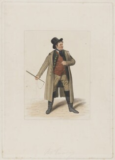 John Emery as Dandie Dinmont in Terry's 'Guy Mannering', by Joseph John Jenkins, printed by  E. Brain, published by  William McDowall, after  Samuel De Wilde - NPG D36181