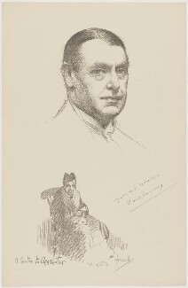 Fred Emney, after Howard van Dusen, and after  John Hassall - NPG D36186