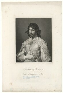 George Gordon, 2nd Marquess of Huntly, by Charles Theodosius Heath, published by  Hurst & Robinson, after  Sir Anthony van Dyck - NPG D36406