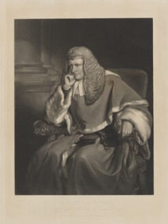 Sir William Erle, by and published by George Raphael Ward, after  Sir Francis Grant - NPG D36192