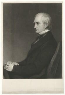 (John) Frederick Andrew Johann Friedrich Andreas Huth, by Samuel Cousins, after  Sir William Boxall - NPG D36422