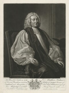 Matthew Hutton, by John Faber Jr, published by  Robert Wilkinson, after  Thomas Hudson - NPG D36425