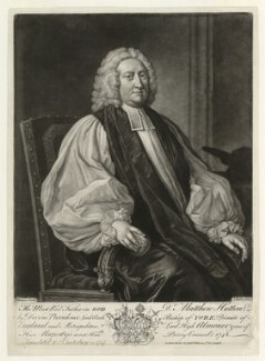 Matthew Hutton, by John Faber Jr, published by  Robert Wilkinson, after  Thomas Hudson - NPG D36426