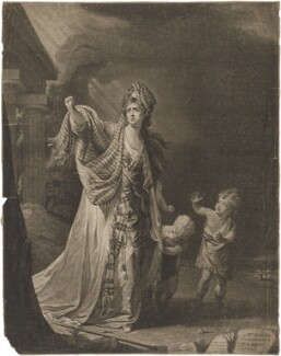Mary Ann Yates in the character of Medea, by William Dickinson, after  Robert Edge Pine - NPG D36247