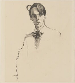W.B. Yeats, by Sir William Rothenstein, published 1899 (1898) - NPG D36250 - © National Portrait Gallery, London
