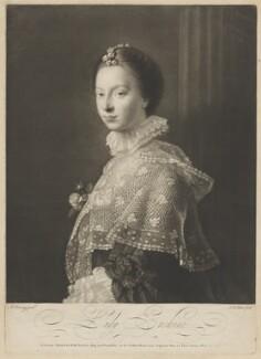 Janet (née Wedderburn), Lady Erskine, by James Watson, published by  Robert Sayer, after  Allan Ramsay - NPG D36556