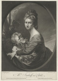 Marian Hastings (née Anna Maria Apollonia Chapuset) when Baroness von Imhoff, by William Dickinson, published by  Carington Bowles, after  Robert Edge Pine - NPG D36438
