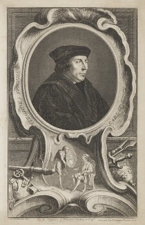 Thomas Cromwell, Earl of Essex, by Jacobus Houbraken, published by  John & Paul Knapton, after  Hans Holbein the Younger - NPG D36566