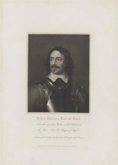 Robert Devereux, 3rd Earl of Essex, by Edward Scriven, published by  Harding, Triphook & Lepard, after  William Derby, after  Robert Walker - NPG D36568