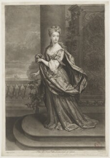 Mary Capel (née Bentinck), Countess of Essex, by John Faber Jr, after  Sir Godfrey Kneller, Bt - NPG D36571