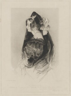 Catherine Capell-Coningsby (née Stephens), Countess of Essex ('La Sevillana'), by Frederick Christian Lewis Sr, published by  Sir Francis Graham Moon, 1st Bt, and published by  Colnaghi, Son & Co, after  John Frederick Lewis - NPG D36577