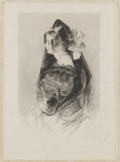 Catherine Capell-Coningsby (née Stephens), Countess of Essex ('La Sevillana'), by Frederick Christian Lewis Sr, published by  Sir Francis Graham Moon, 1st Bt, and published by  Colnaghi, Son & Co, after  John Frederick Lewis - NPG D36578