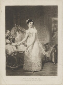 Catherine Capell-Coningsby (née Stephens), Countess of Essex as Susanna in the Marriage of Figaro, by Samuel William Reynolds, published by  William Sams, after  Henri Jean-Baptiste Victoire Fradelle - NPG D36579