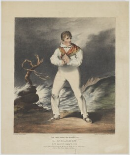 Charles Incledon, printed by Engelmann, Graf, Coindet & Co, published by  William Kenneth, after  Joseph Ayton - NPG D36441