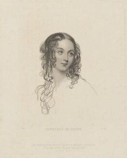 Caroline Jeanetta Capel (née Beauclerk), Countess of Essex, by William Henry Mote, published by  Illustrated News of the World, after  John Hayter - NPG D36580