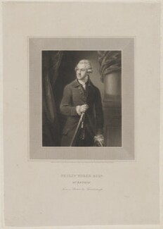 Philip Yorke of Erthig, by Edward Scriven, after  Thomas Gainsborough - NPG D36257