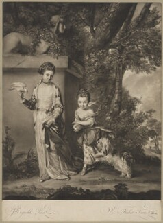 'Ladies Amabel and Mary Jemima Yorke', by Edward Fisher, after  Sir Joshua Reynolds - NPG D36261